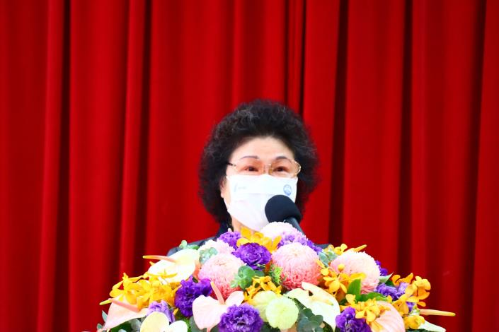 圖8  陳菊院長於監察院建院90周年學術研討會發表開幕致詞