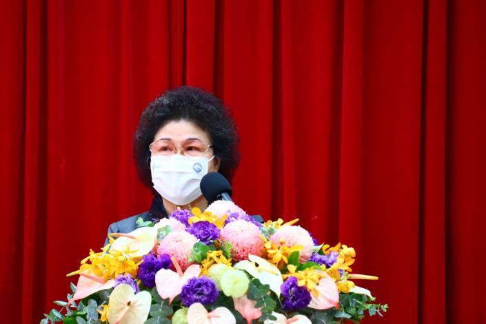 圖9  陳菊院長於監察院建院90周年學術研討會發表開幕致詞