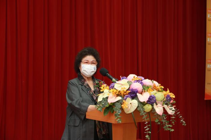 圖7  陳菊院長於監察院建院90周年學術研討會發表開幕致詞