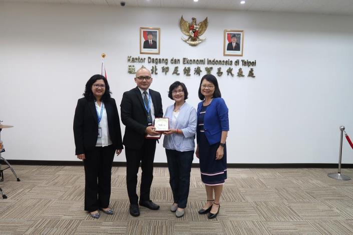 監委拜會駐臺北印尼經濟貿易代表處