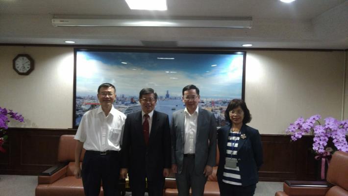 監察委員張武修、包宗和巡察高雄市,拜會高雄市代理市長楊明州