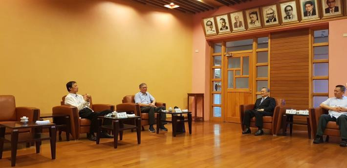 監察委員蔡培村、劉德勳與宜蘭縣議會議長張建榮及副議長陳漢鍾進行交流