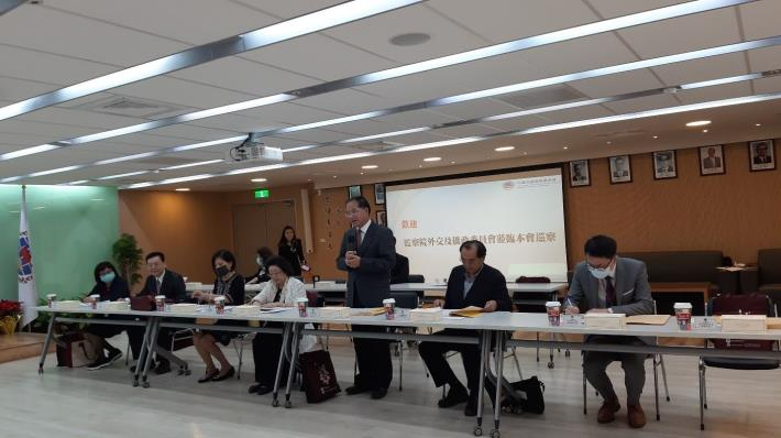 外交及僑政委員會召集人林文程委員致詞並感謝僑務委員會同仁為國家推動僑務工作的努力與辛勞