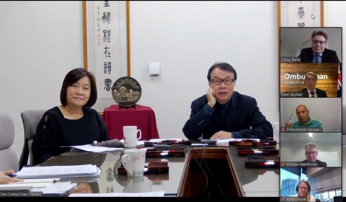 第6屆監察委員以視訊方式,出席APOR區域會議業務會議。