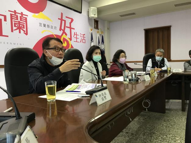 監察委員林盛豐、范巽綠聽取縣政簡報,並提供意見