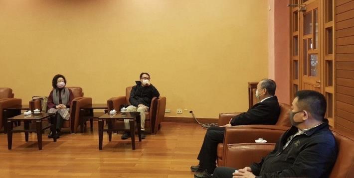 監察委員范巽綠、林盛豐與宜蘭縣議會議長張建榮及副議長陳漢鍾進行交流