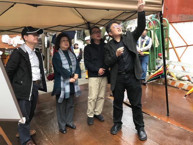 范巽綠委員、林盛豐委員109年12月18日實地巡察基隆中正公園地標-豎梯工程