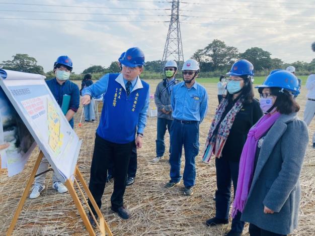 王美玉委員、王幼玲委員視察旺來產業園區開發進度