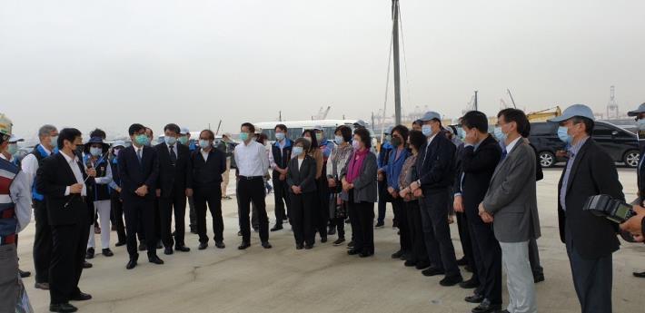 監察院交通及採購委員會110年2月24日巡察高雄港第七貨櫃中心