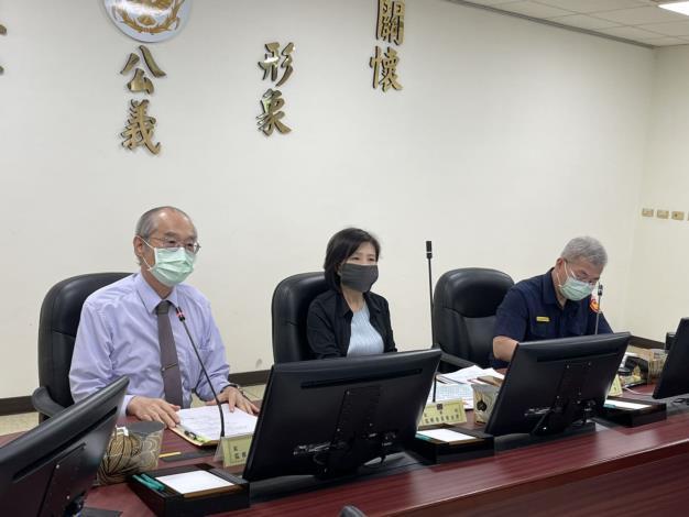 監察委員葉宜津、林國明於110年5月6日赴臺南市巡察,關心臺南市政府警察局受理刑案之處理程序及策進作為