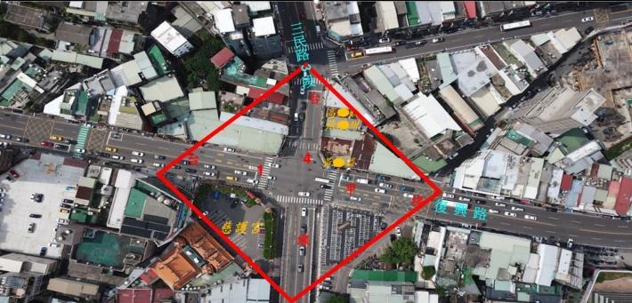 省道臺1甲線與臺4線交叉路口航照圖