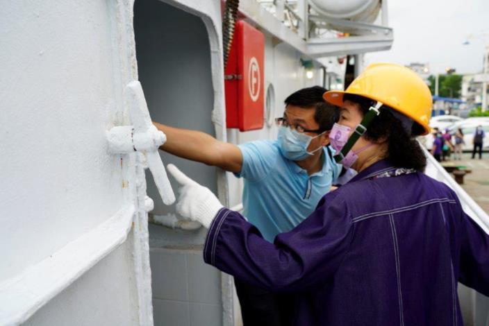 國家人權委員會陳菊主委履勘臺籍漁船漁工盥洗環境