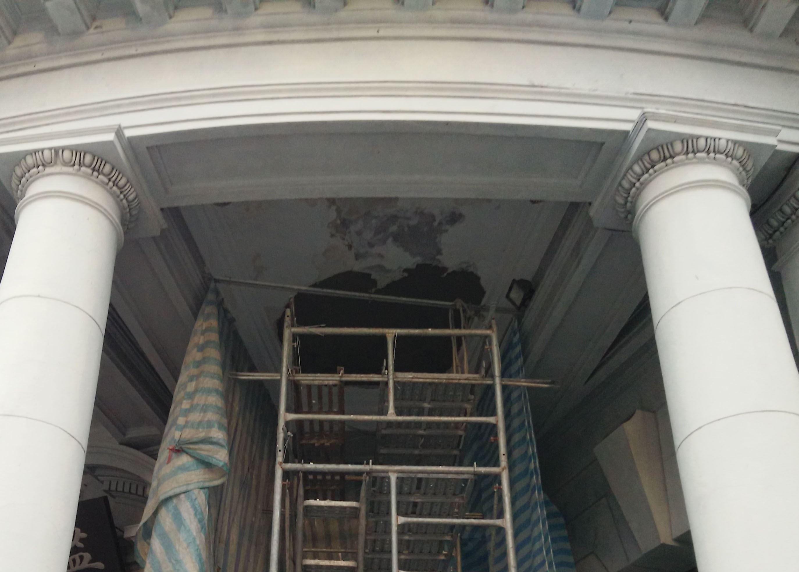 修繕區域全數清理潔淨,再予重新粉刷完竣風乾。