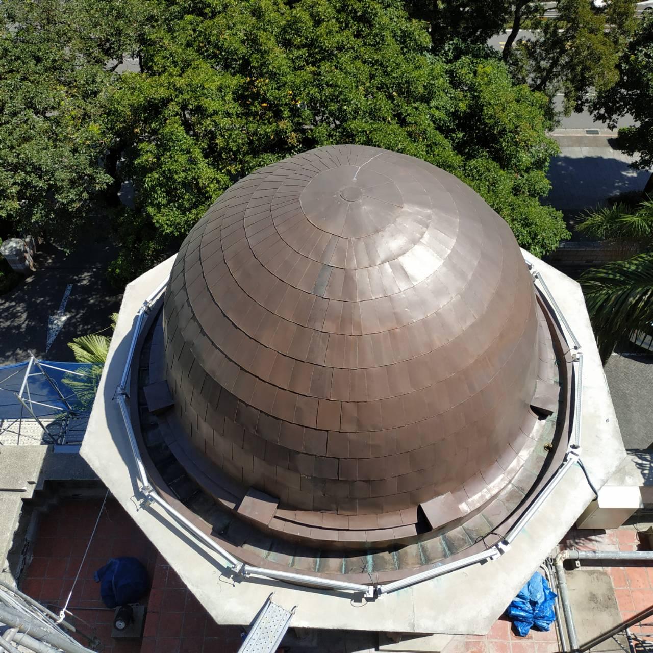 監察院古蹟衛塔圓形屋頂完成修復