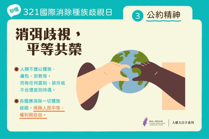 圖三:國際消除種族歧視日公約精神