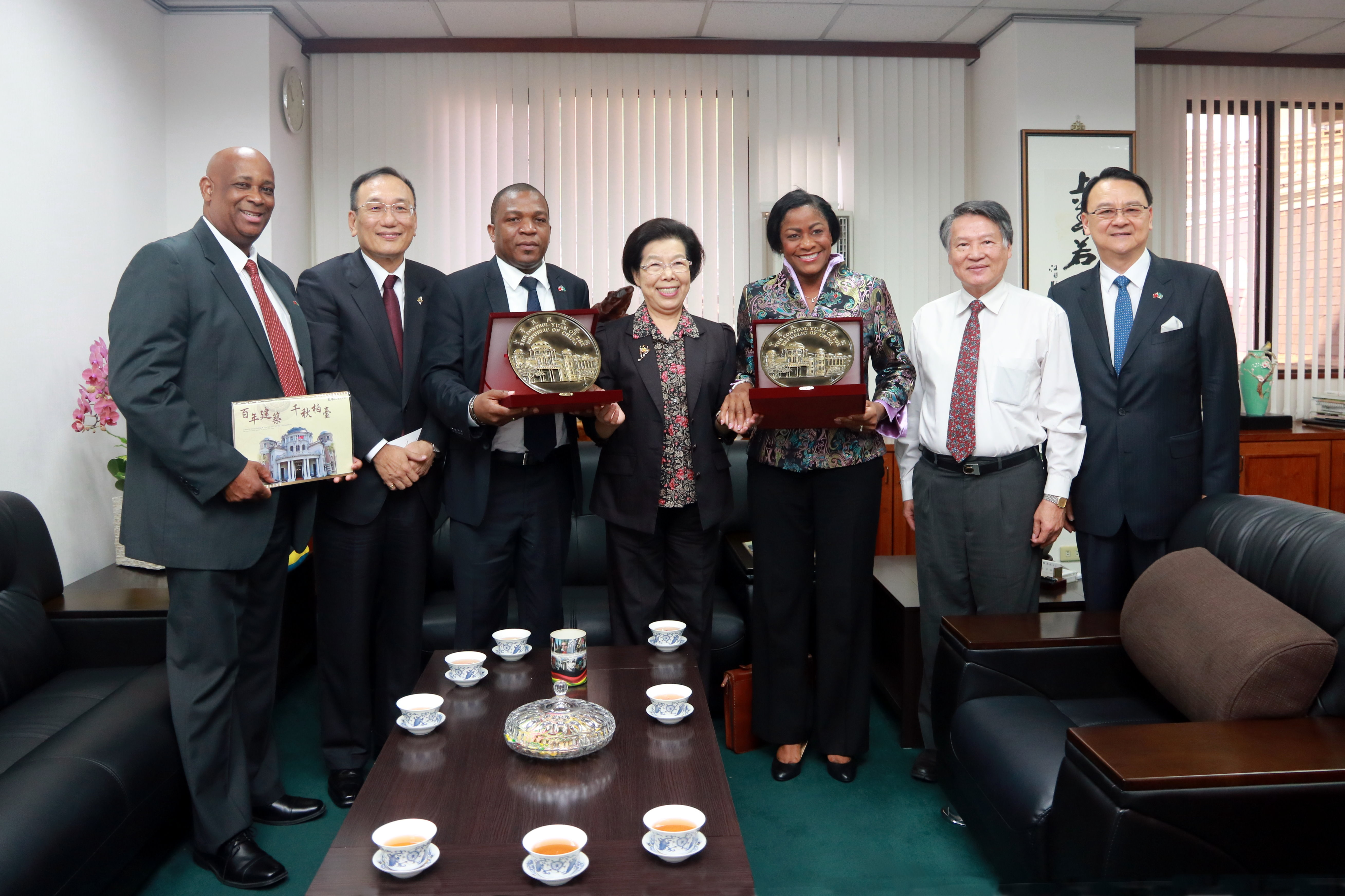 St. Lucia Senate President and House Assembly Speaker Visit Control Yuan
