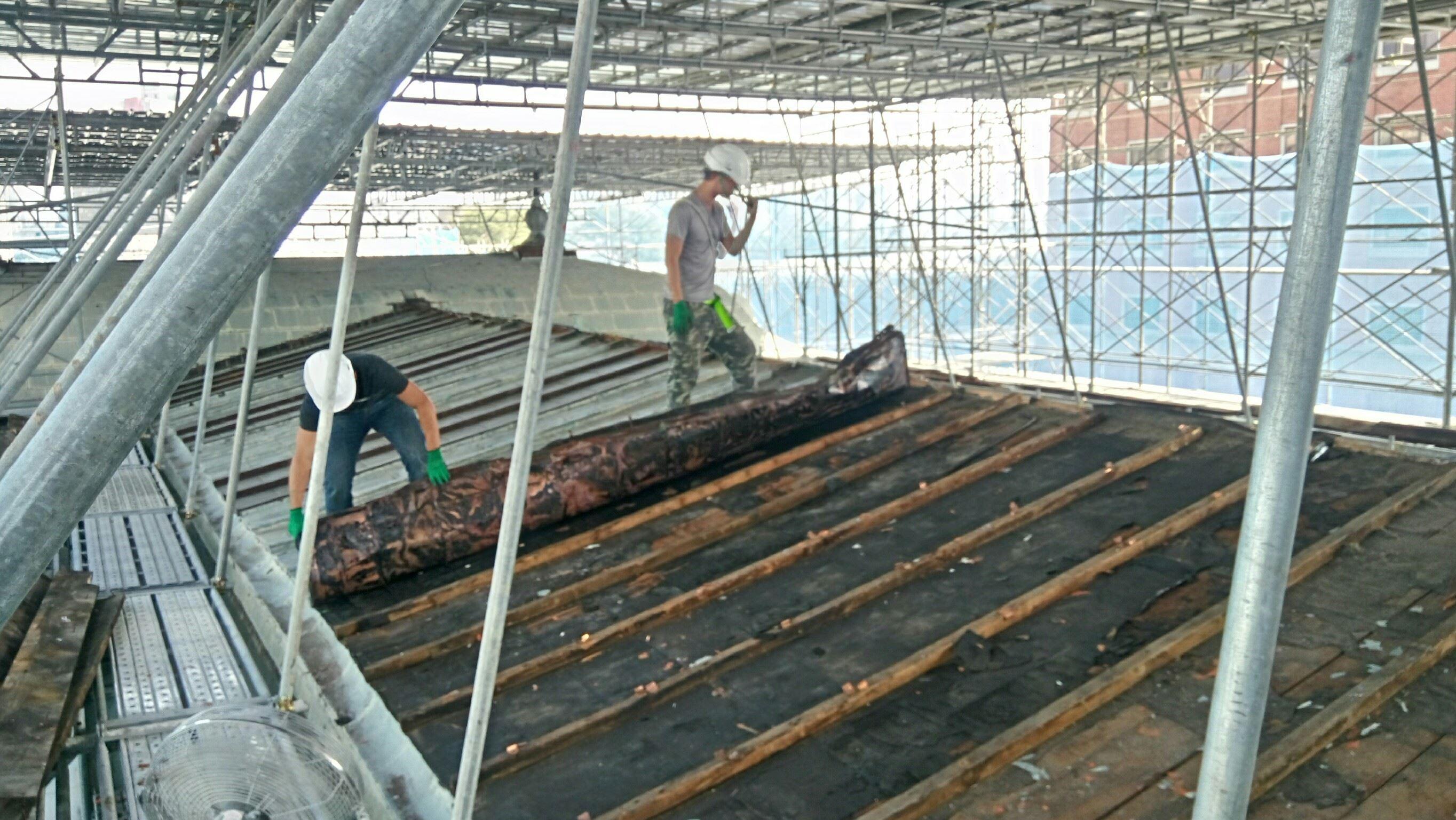 舊有屋面銅皮拆除