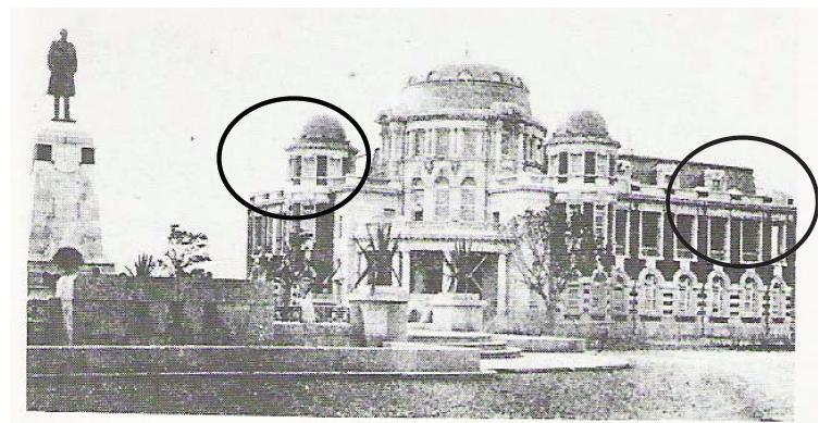 建築物兩翼尚未完成時期